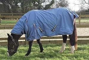 Rhinegold - Manta para caballo (impermeable, ligera, con cuello, 1,9 m)