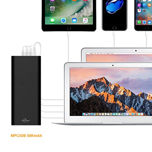 Atabyone MPC50B 50000mAh 6Ports Portable Charger Power Bank for compatible with 2006 to 2015 Apple MacBook Pro MacBook Air MacBook; USB Ports Charge for New MacBook iPad iPhone Tablet or Smartphones by Abyone (Image #7)
