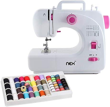 NEX máquina de coser 16 puntadas integradas con 60 hilos, costura ...