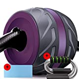 Ab Roller Wheel Exercise And Fitness Wheel With Easy Grip Handles And Mute For Abdominal Workout ( Color : Purple , Size : B ) Review