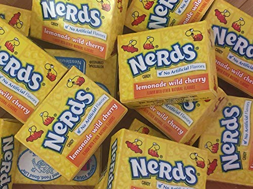 Wonka Nerds Mini Boxes Lemonade Wild Cherry ALL YELLOW Candy 3 Pounds 93pc -