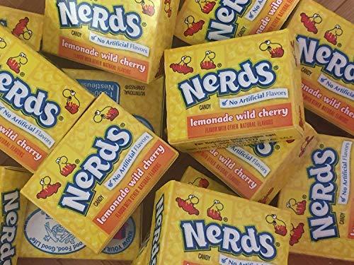(Wonka Nerds Mini Boxes Lemonade Wild Cherry ALL YELLOW Candy 3 Pounds 93pc)