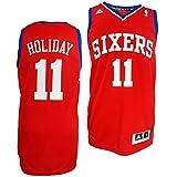 Philadelphia 76ers Jrue Holiday #11 NBA Mens Swingman Jersey, Red (X-Large)