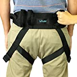 Transfer Belt with Leg Loops by Vive - Medical Nursing Safety Gait Assist Device - Bariatrics, Pediatric, Elderly, Occupational & Physical Therapy - Long Strap & Quick Release Metal Buckle - 55 Inch