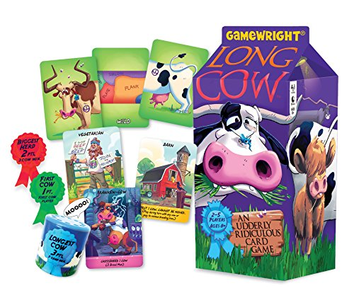 Gamewright  Long Cow - an Udderly Ridiculous Card Game ()