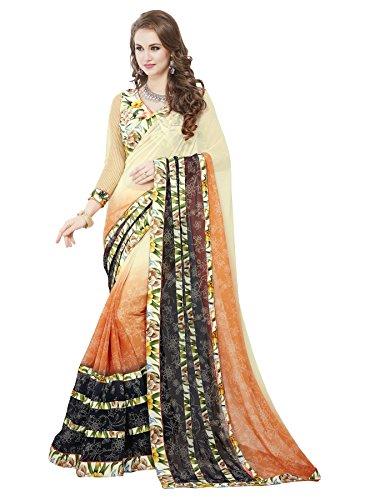 Panchratna Women's Faux Georgette Saree (ME-RR-1030_Multi Color_Free Size)…