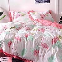 Bedding Set of 6 Pieces, Cotton,Size,Flamingo Design