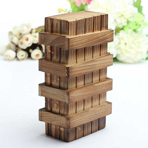 Magia Compartimiento de madera del rompecabezas caja con cajón secreto Rompecabezas.