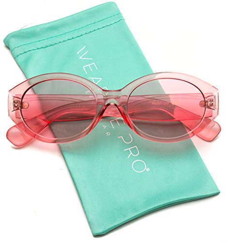retro colorful transparent clear frame clout goggles