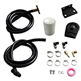 Coolant Filtration System W/Filter Kit Fit 200-2010 Ford 6.0L Powerstroke Black