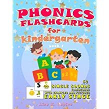 Phonics Flashcards for Kindergarten: 52 flashcards with pictures and examples