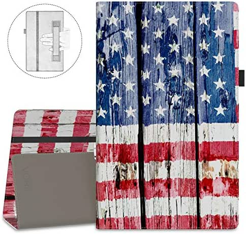VORI Folio Case for All-New Amazon Fire HD 8 Tablet (8th/7th/6th Generation, 2018/2017/2016 Release), Slim Premium PU Leather Stand Protective Cover with Auto Wake/Sleep, American Flag