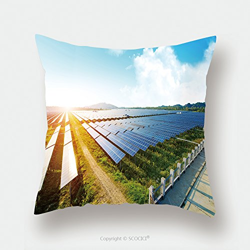 Custom Satin Pillowcase Protector Photovoltaic Panels For Renewable Electric Production Navarra Aragon Spain 500035789 Pillow Case Covers Decorative by chaoran