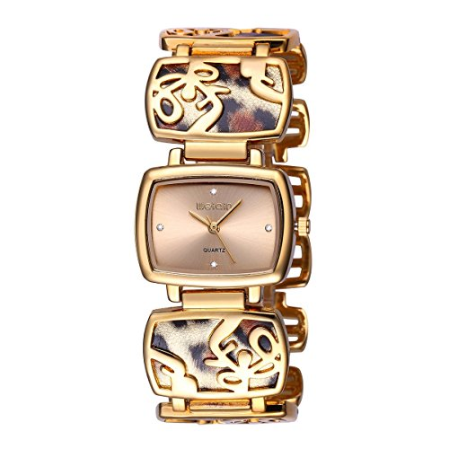 Leopard Charm Bangle Bracelet Watch