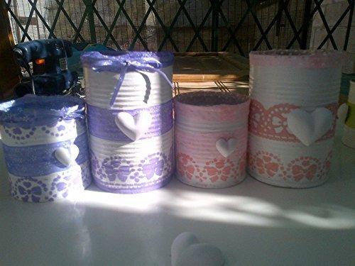 Set Barattoli Di Latta Decorati Amazon It Handmade