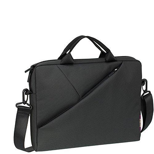 Laptop Designer Bag Case Ladies - Rivacase 8720 13.3 Inch Laptop Bag, Ultra Slim with Adjustable Shoulder Strap, Dark Grey