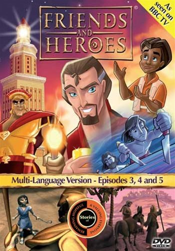 Friends and Heroes Multi-Language Episodes 3, 4 & 5 - Includes Bible Stories David and Goliath, Jesus's Birth the Nativity and - Nativity Dvd Story