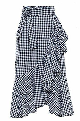 JANAK Women's Cotton Skirt (DN154, Black, Free Size)