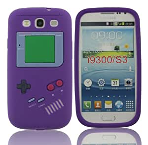 LETOiNG-93YXJ11 Gameboy Classic Retro Smooth Silicone Soft Rubber Gel Case Cover Skin-Purple Color