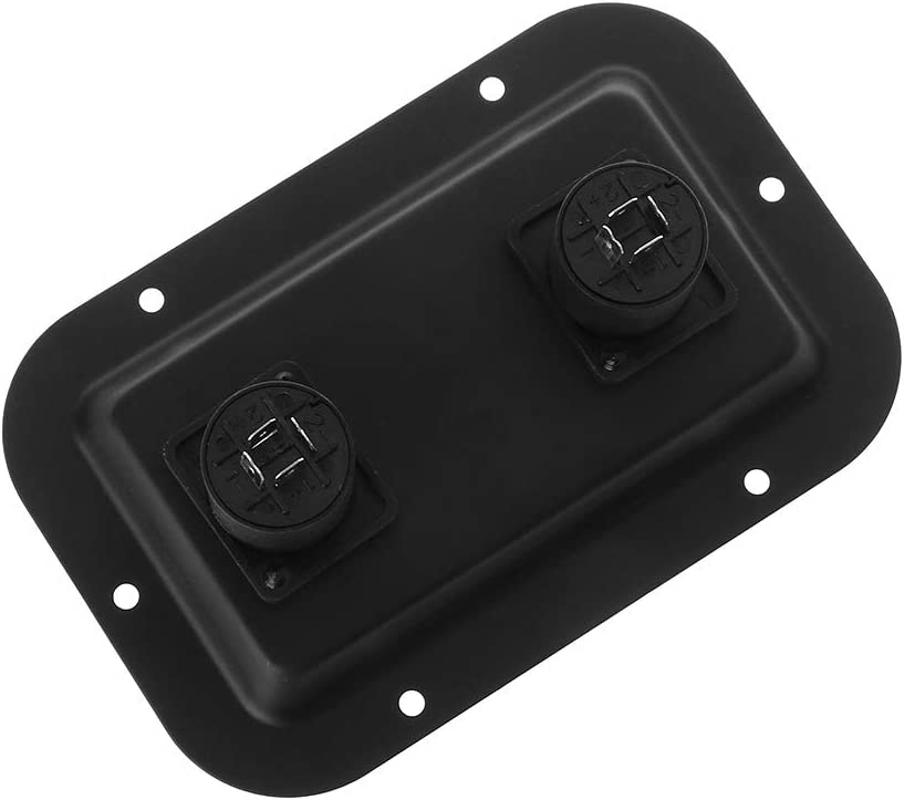 Tebatu Jack Plate Socket Junction Box Clip Guitar Dual Large for SpeakOn PA Speaker Cabinets