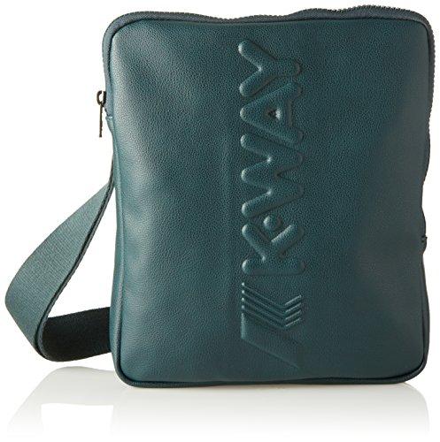 K-Way - 7bkk2b06b4201, Shoppers y bolsos de hombro Hombre, Verde (B42 Green Dk), 3x22x16 cm (W x H L)