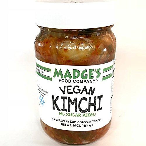 Madge's Vegan Kimchi Mild 15 oz- No-Sugar Added - Fermented