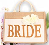 Bride Bag - Bride Tribe Tote - 100% Linen and Cotton, Interior Pocket - Wedding Favors - Bridal Shower Gift - Bachelorette Parties - Bride to Be - Bridal Shower Unique Gifts