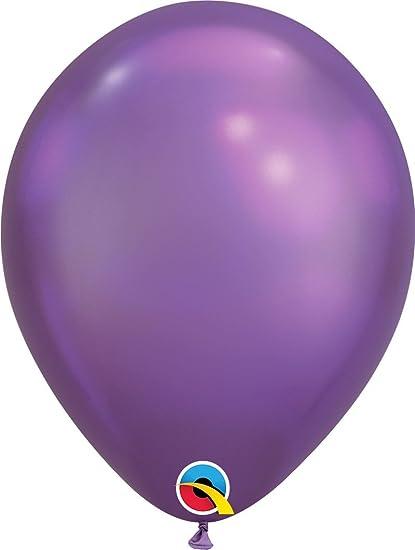 """Purple Blue,Green Mauve Silver 11/"""" Round Qualatex Chrome Latex Balloon  Gold"""