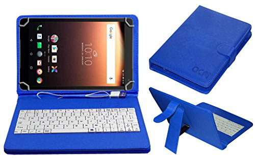 Acm USB Keyboard Case Compatible with Alcatel A3 10 Tablet Cover StandStudy Gaming Direct Plug  amp; Play   Blue