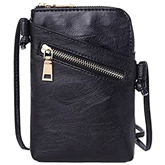 TOOGOO Simple Handbag PU Leather Messenger Bag Ladies Shoulder Bag Purse Clutch Bag Wallet Card Bag Black