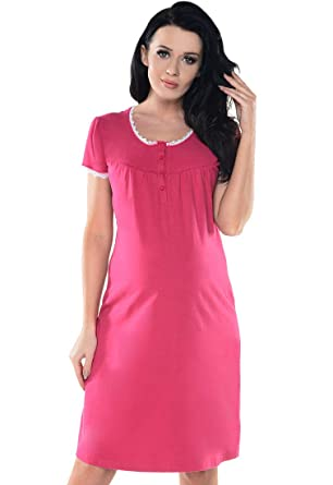 543d89f9b0f Purpless Maternity Pregnancy   Nursing Nightie with Lace Detail Nightdress  for Pregnant Breastfeeding Women 6066n  Amazon.co.uk  Clothing