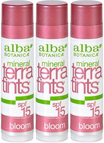 Alba Botanica Bloom Terratints Tinted Lip Balm, Bloom, .15-Ounce Tube (Pack of 3) - Alba Terratints Natural