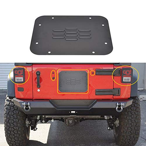 (GZSJY Jeep Wrangler Rear Tailgate Accessories - Tailgate Plugs/Vent-Plate Cover/Light Cover for 2007-2018 Jeep JK Wrangler & Unlimited)