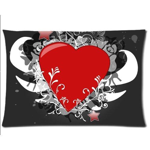 Diseño de flores y corazón fundas de almohada y funda de ...