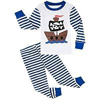 A&J DESIGN Toddler Boys Pirate Ship Sleepwear Pjs Set (4T, Pirate)