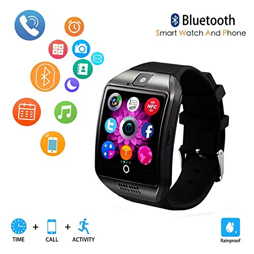 Phone Cell Camera Watch (Smart Watch for Android Phones,Android Smartwatch Touchscreen with Camera,Smart Watches with Text,Bluetooth Watch Phone with SIM Card Slot Watch Cell Phone Compatible Android iOS Men Women (Black))
