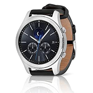 Samsung Gear S3 Classic SM-R770 Smartwatch - Black Leather w/ Large Band (Certified Refurbished)
