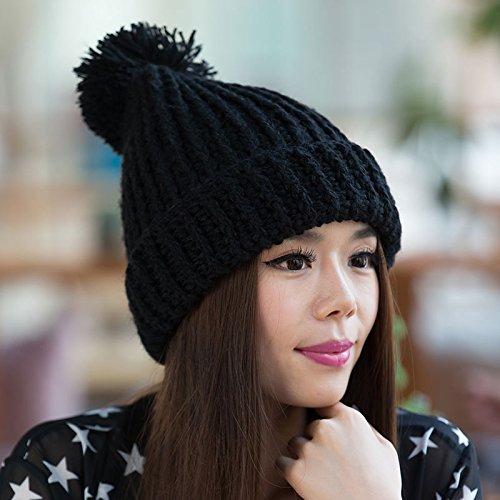 Las los de de lo señoras Invierno de Ventilador Sombreros de de de Gruesas Grueso los Sombreros Han señoras BLACK Maozi Salvajes a Largo otoño para Khaki Punto H0qwC