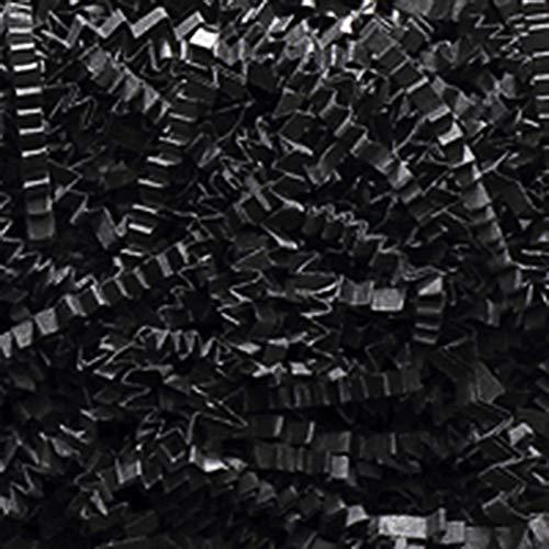 Crinkle Cut Paper Shred Filler (1 LB) for Gift Wrapping & Basket Filling (Black) ()