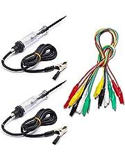 2 Packs Voltage Continuity & Current Tester 6V-24V with Test Lead Set & Alligator Clips, SourceTon 2 Pieces Circuit Tester & 10 Pieces and 5 Colors Alligator Clips