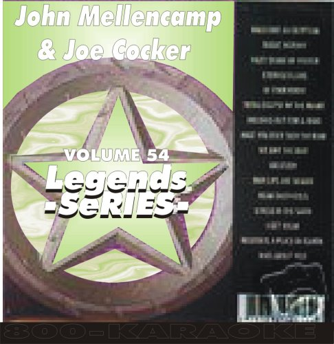 Cougars Legend - John Cougar Mellencamp & Joe Cocker Karaoke Disc - Legends Series CDG
