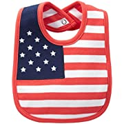 Carter's Big Boys' 4th of July Bib (Baby) - White - One Size