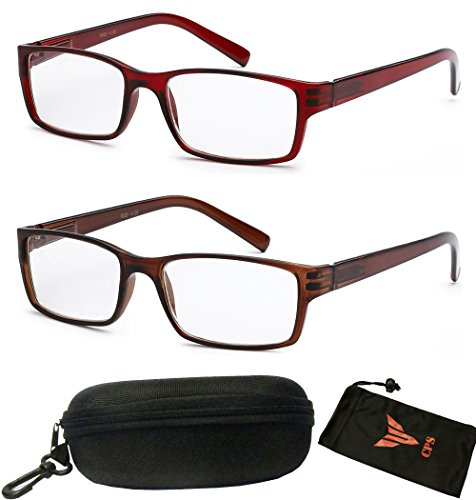 Get 2 Pairs Designer Square Spring Hinge Reading Glasses Optical Frame Simple Women Men - Sunglasses Style Latest
