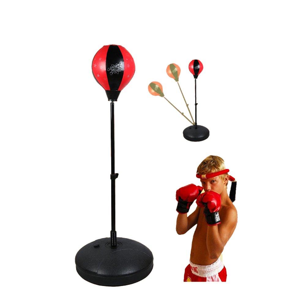 独創的 ruiyif自立Punching速度バッグキッズ用 41、ボクシングスピードセット手袋調節可能な高さ29 – 41 B06XZ3QR5Y