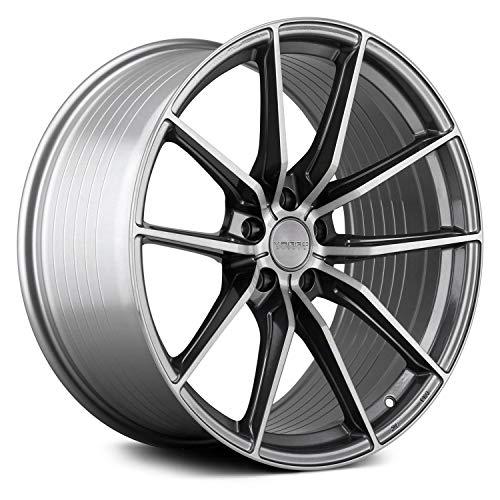 Varro VD25X Custom Wheel Gloss - Gloss Titanium with Brushed Face Rims - 20\