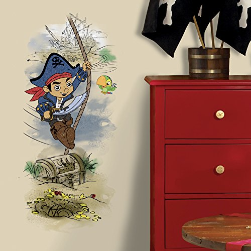 RoomMates Captain Jake & The Never Land Pirates Treasure Peel And Stick Giant Wall Graphic