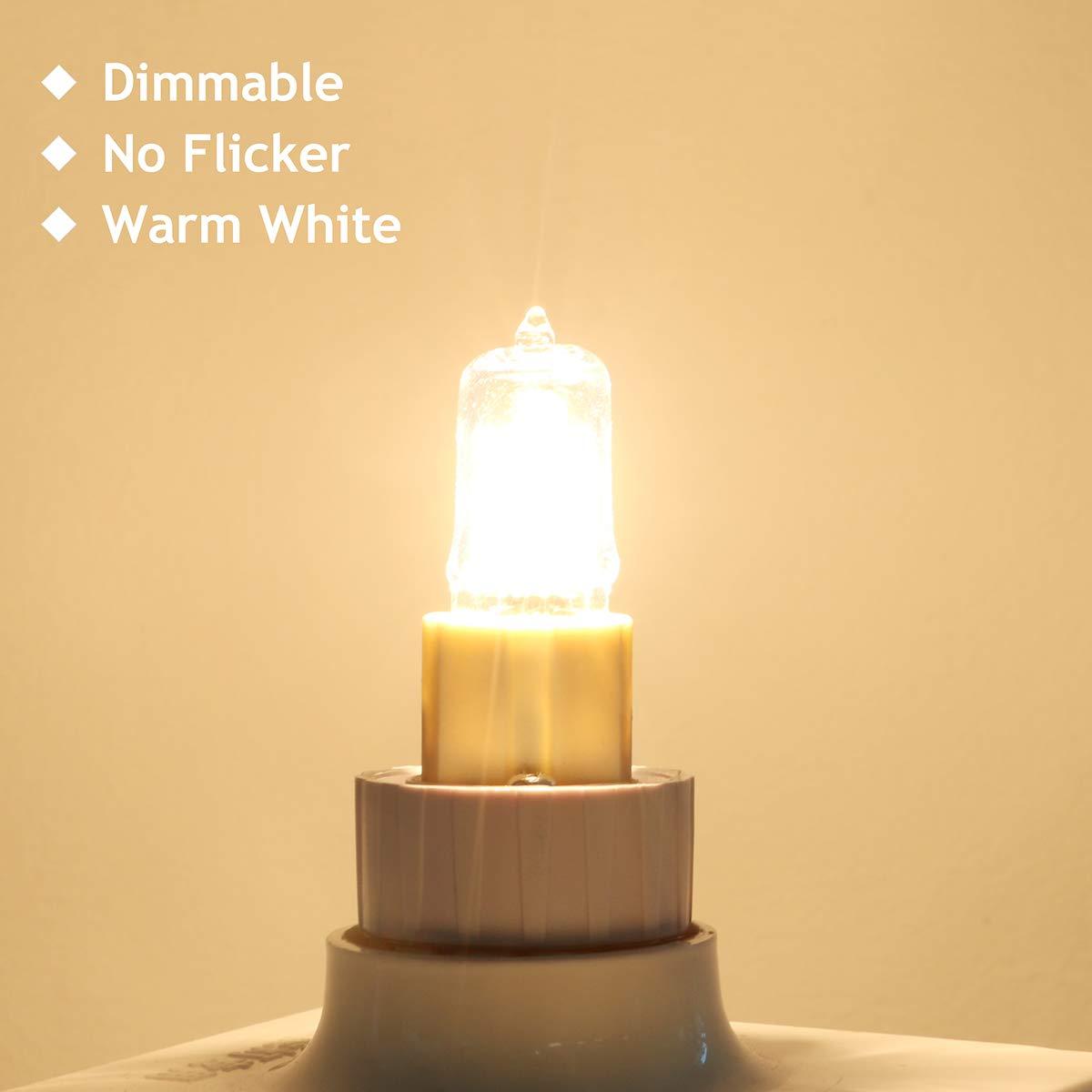 GMY Lighting Ampoules Halog/ènes G9 28W 230V 370Lm 2800K Dimmable Blanc Chaud Paquet de 10