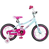 JOYSTAR 14 Inch Girls Bike with Training Wheels for 3 4 5 Years Old Kids, Starter Bike with for Early Rider, Birthday Gift, Blue Pink