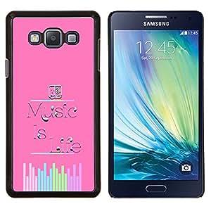 Eason Shop / Premium SLIM PC / Aliminium Casa Carcasa Funda Case Bandera Cover - Música Sonido Vida motivación de la cita - For Samsung Galaxy A7 ( A7000 )