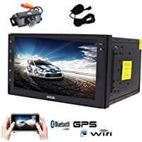 Android 6.0 Car Stereo with Quad Core EinCar GPS Car Radio Double Din 7 Touch Screen Headunit In Dash Navigation Support 1080P Video Bluetooth OBD2 Microphone+Reversing Camera